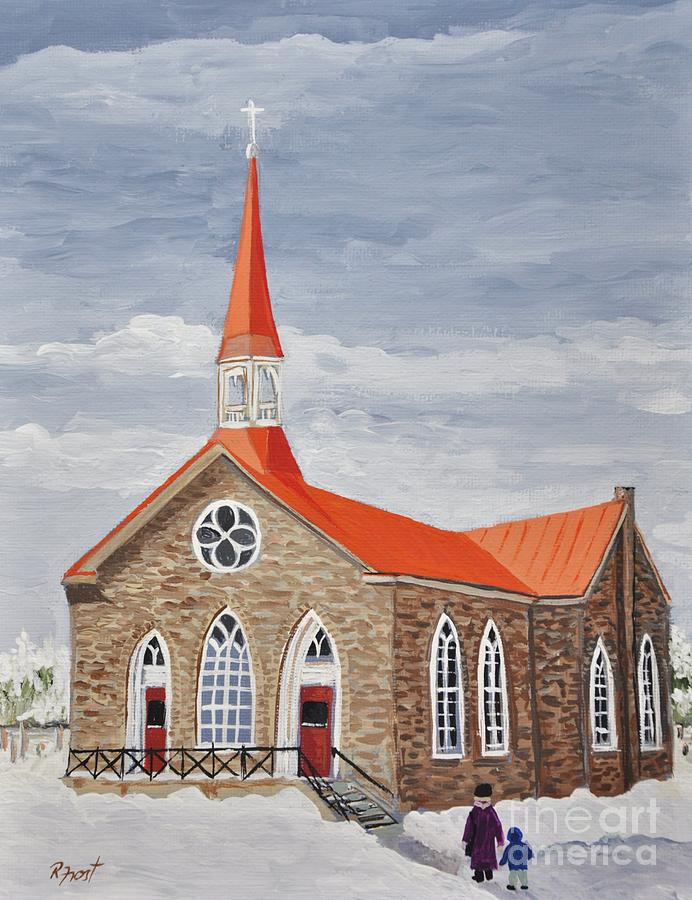 Churches Painting - Georgetown Presbyterian Church by Reb Frost