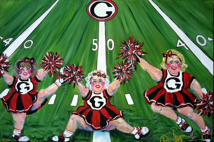 Uga Painting - Georgia Homecoming by Doralynn Lowe