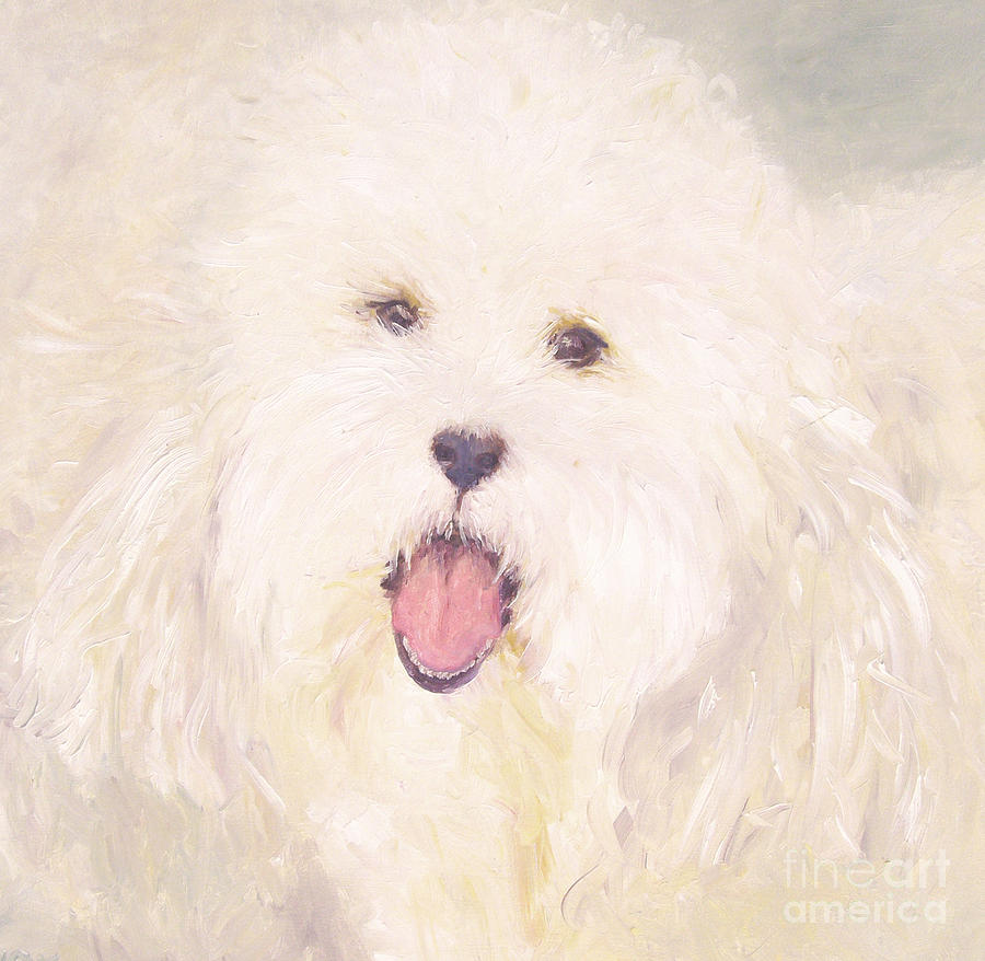Pet Portrait Painting - Georgie by Barbara Anna Knauf
