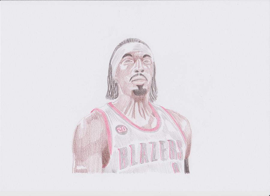 Gerald Drawing - Gerald Wallace by Toni Jaso