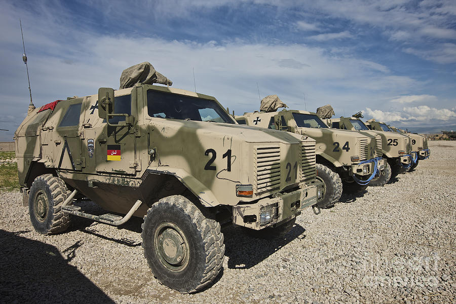 German Army Atf Dingo Armored Vehicles Photograph By Terry
