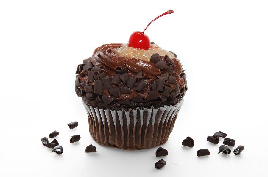 German Photograph - German Chocolate Cupcake by Andee Design