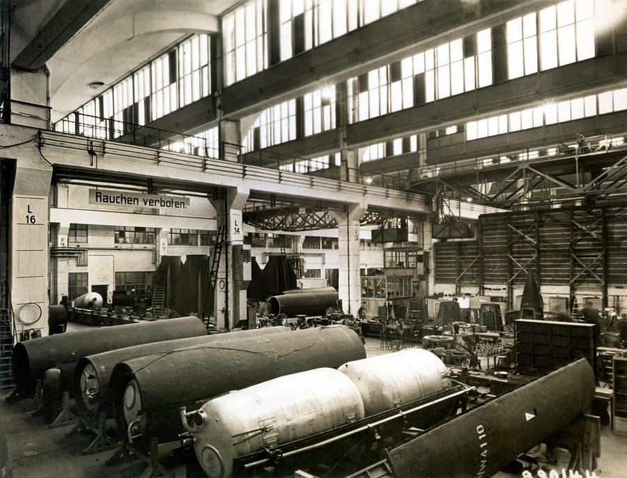 Rocket Photograph - German Rocket Factory, 1943 by Detlev Van Ravenswaay