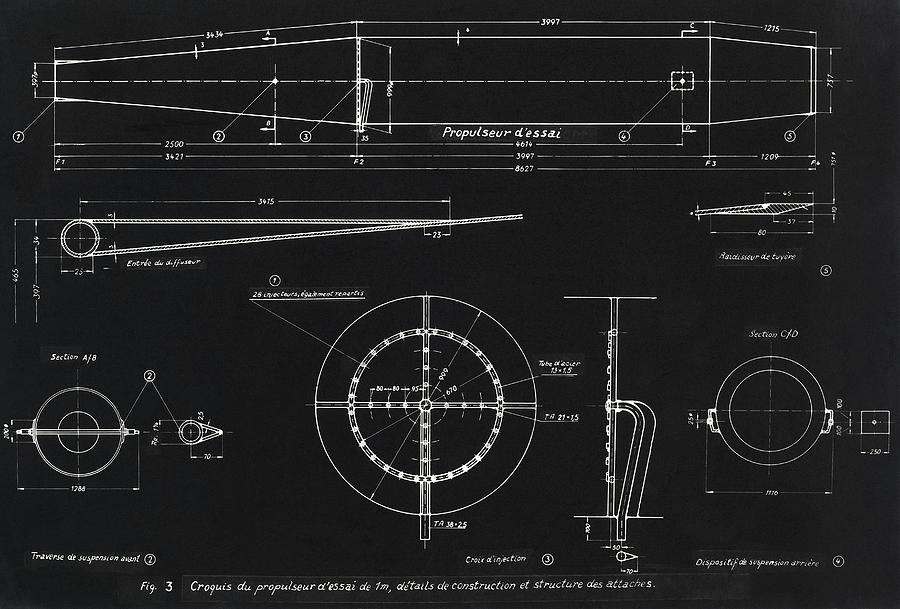 German wwii ramjet engine blueprint photograph by detlev van amerika bomber photograph german wwii ramjet engine blueprint by detlev van ravenswaay malvernweather Images