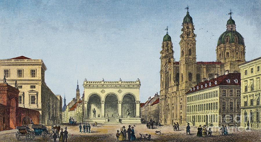 1845 Photograph - Germany: Munich, C1845 by Granger