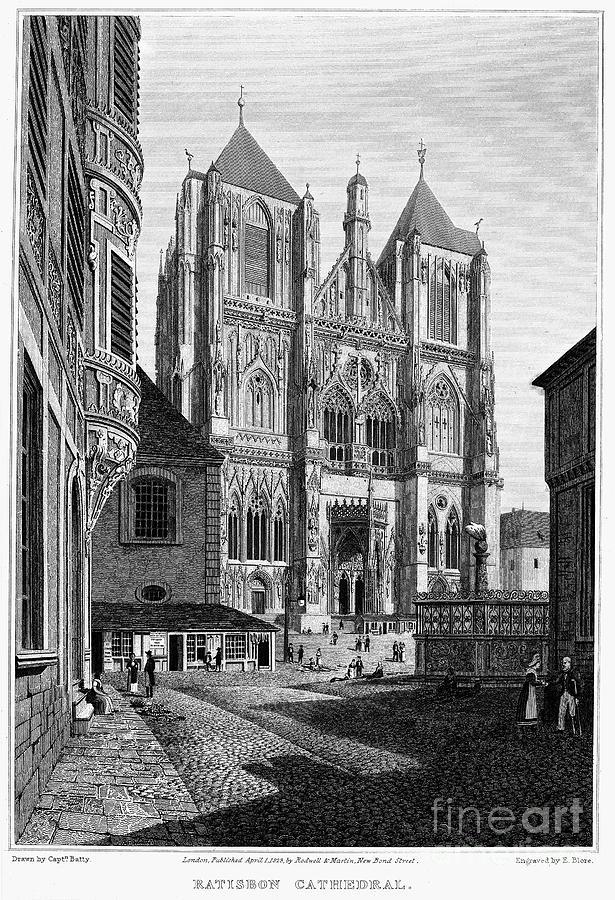 1823 Photograph - Germany: Regensburg, 1823 by Granger