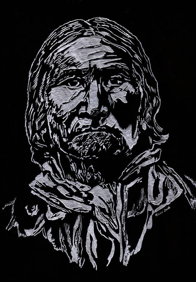 Portrait Sculpture - Geronimo by Jim Ross