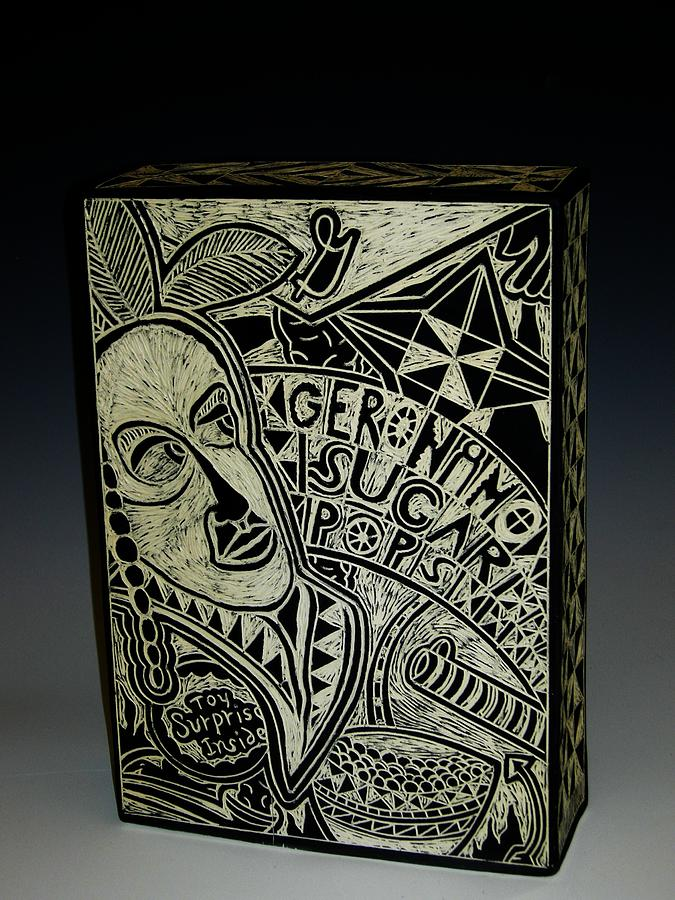 Porcelain Ceramic Art - Geronimo Sugar Pops by Ken McCollum