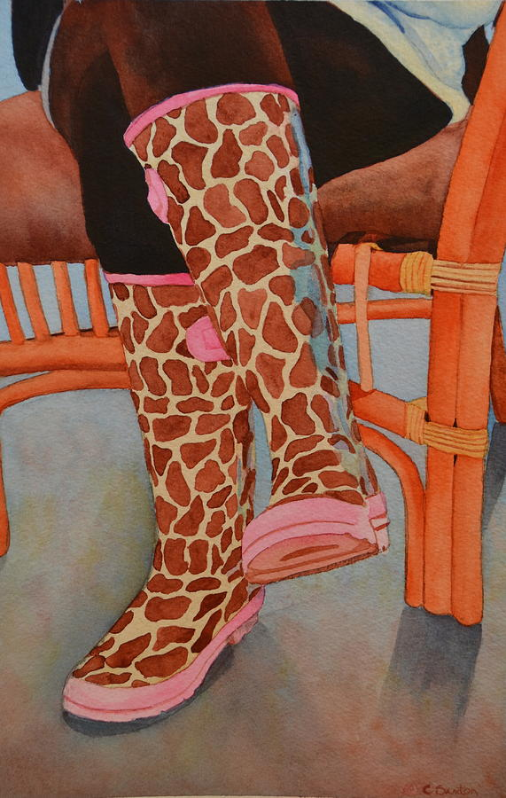 Galoshes Painting - Gerry Afe by Cynthia Sexton