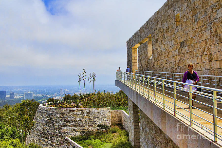Getty Photograph - Getty Museum Iv by Chuck Kuhn