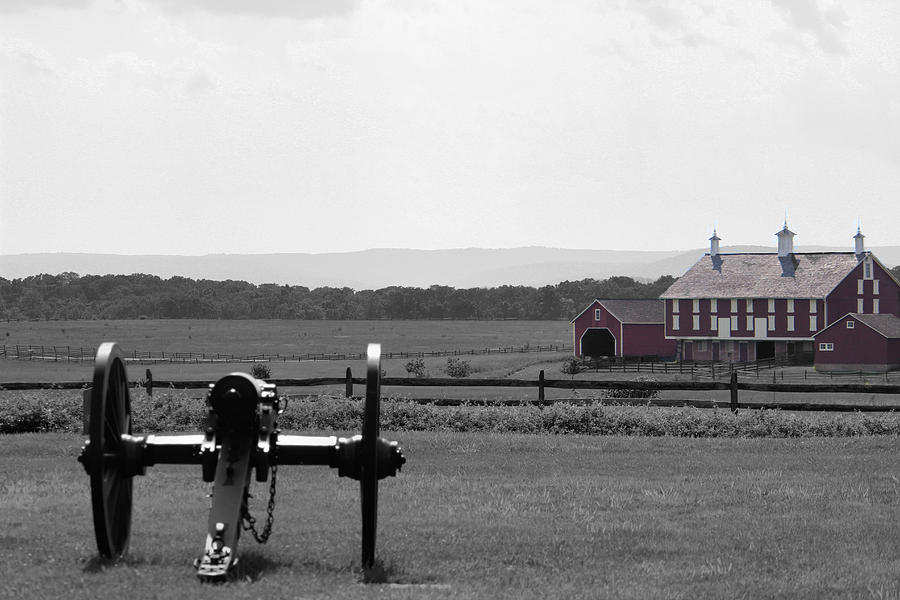 Cannon Digital Art - Gettysburg by Justin Mac Intyre