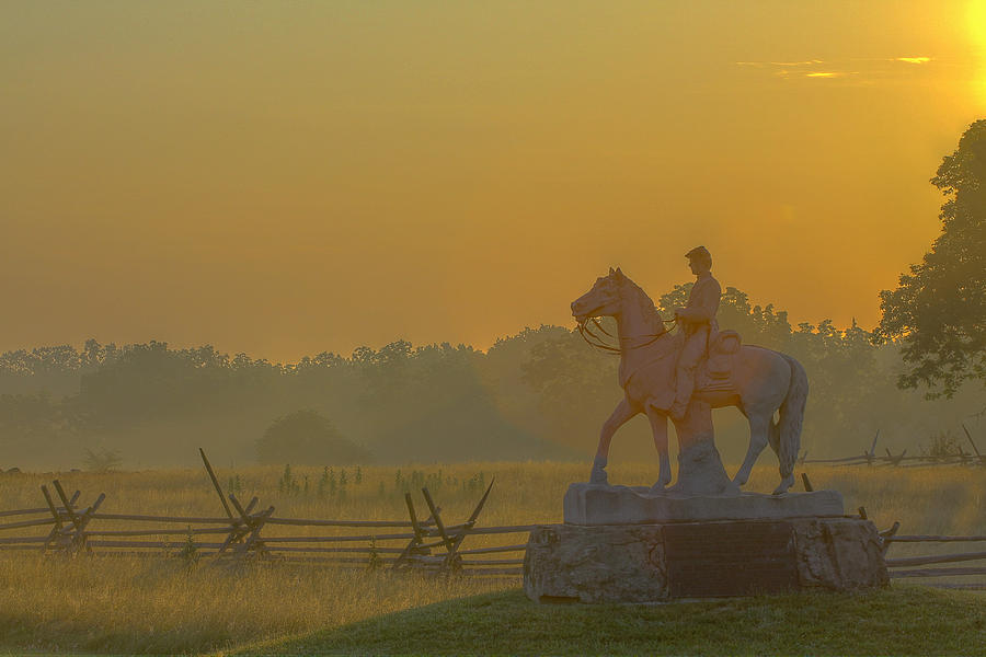 Cavalry Regiment Photograph - Gettysburg Morning Light by Randy Steele