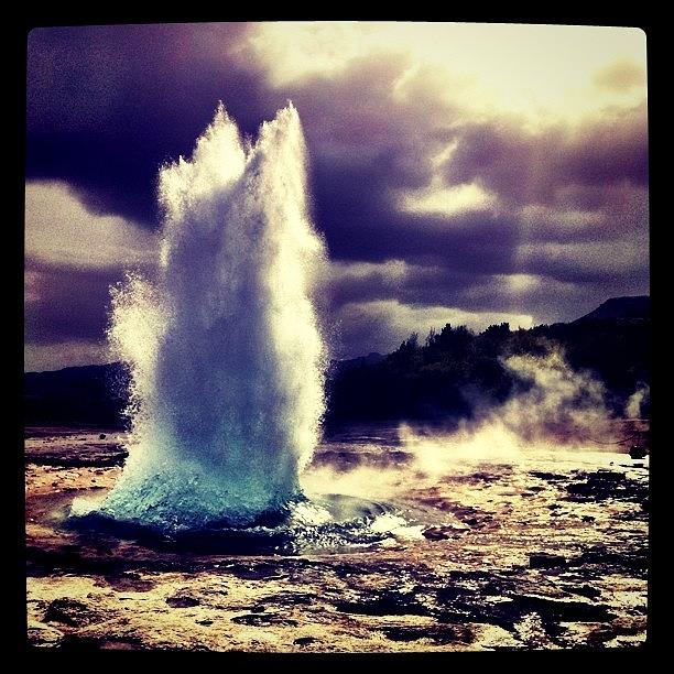 Iceland Photograph - Geysir by Luke Kingma