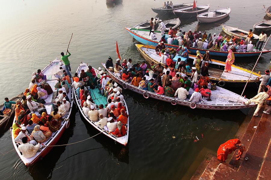 Horizontal Photograph - Ghats Of Varanasi, India by Soumen Nath Photography