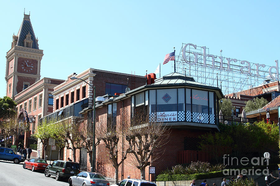 San Francisco Photograph - Ghirardelli Chocolate Factory San Francisco California . 7d14093 by Wingsdomain Art and Photography