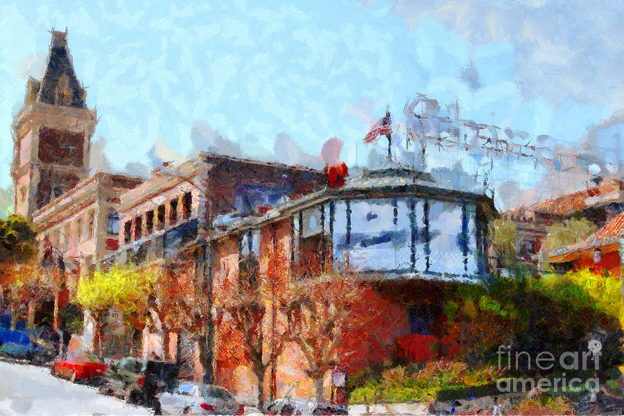 San Francisco Photograph - Ghirardelli Chocolate Factory San Francisco California . Painterly . 7d14093 by Wingsdomain Art and Photography