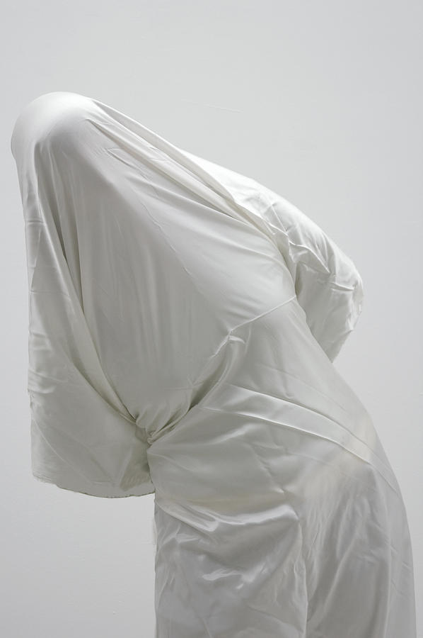 Ghost Photograph - Ghost - Person Covered With White Cloth by Matthias Hauser
