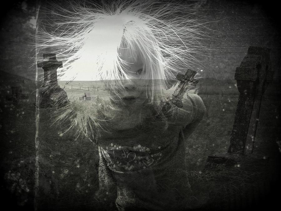Spirit Photograph - Ghost Child by Shirley Sirois