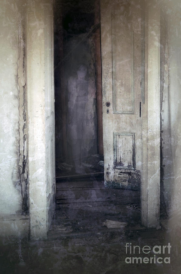 Room Photograph - Ghost Girl In Hall by Jill Battaglia