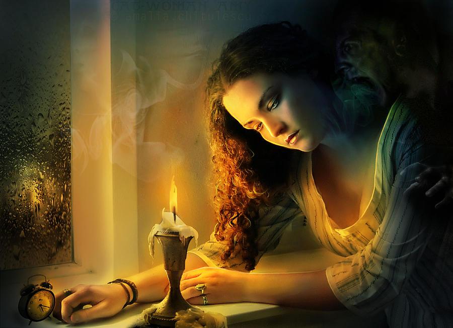 ghost love story   cadence of her last breath digital art