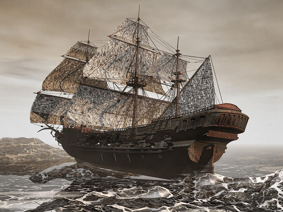 Flying Dutchman Photograph - Ghost Ship Of The Cape by Lourry Legarde