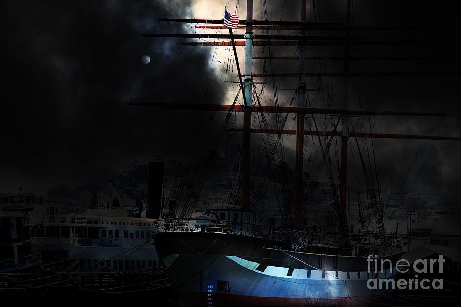San Francisco Photograph - Ghost Ship Of The San Francisco Bay . 7d14032 by Wingsdomain Art and Photography