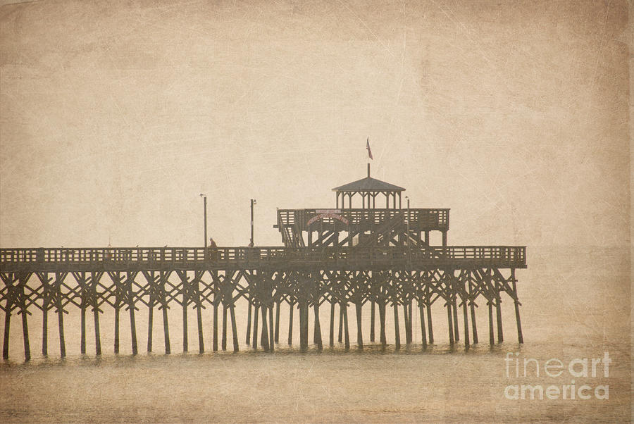 Photograph Photograph - Ghostly Pier by Bob and Nancy Kendrick