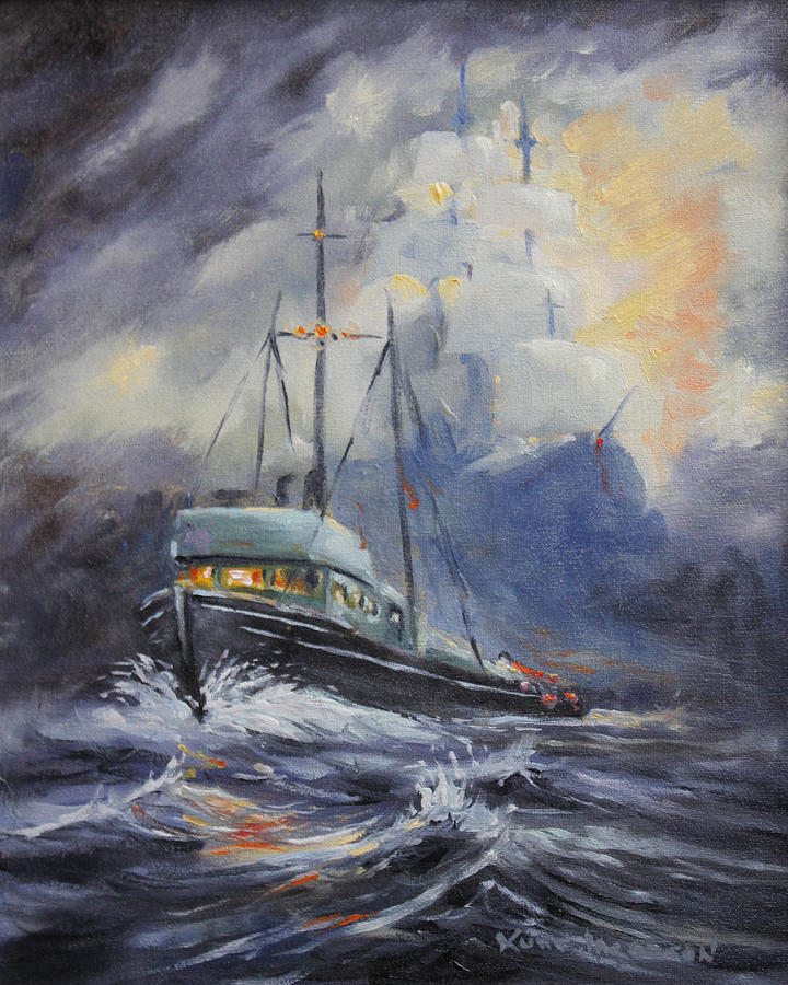 Sea Painting - Ghosts Of The Seas by Kurt Jacobson