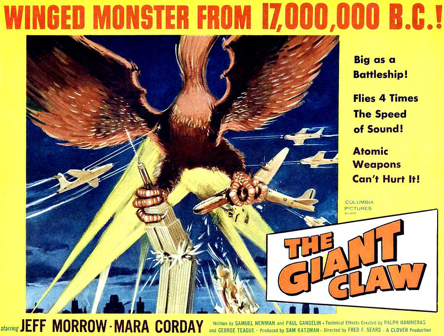 1957 Movies Photograph - Giant Claw, The, 1957 by Everett