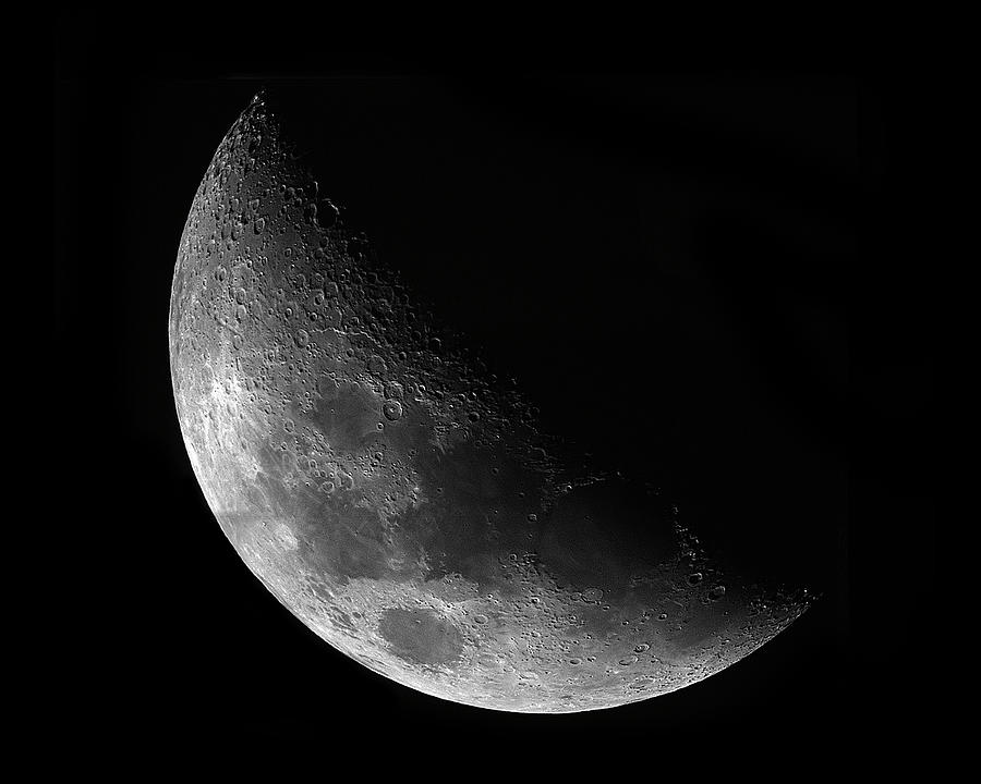 Lunar Photograph - Gibbeous Moon by Charles Warren