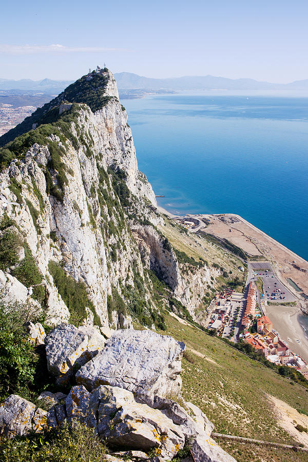 Gibraltar Photograph - Gibraltar Rock And Mediterranean Sea by Artur Bogacki