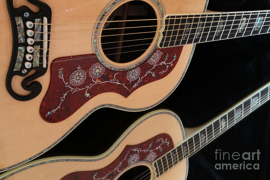 Guitar Photograph - Gibson Sj200 by Edward R Wisell