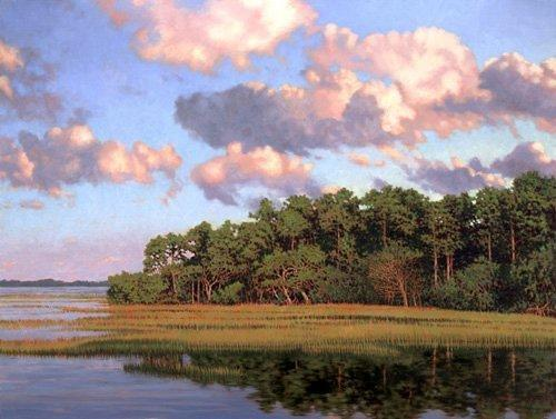 Marsh Scenes Painting - Giclee Advancing Sky by Michael Story