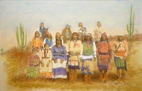 Landscapes Painting - Giclee Geronimos Renegades by Michael Story