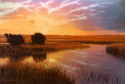 Sc Painting - Giclee Golden Sanctuary by Michael Story