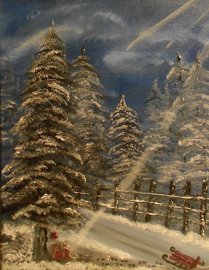 Gift For Santa Painting by Mary DeLawder