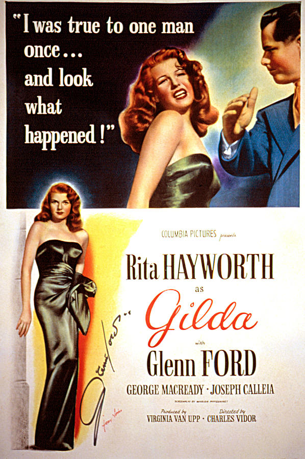 Gilda, Rita Hayworth, 1946, Poster Art Photograph by Everett