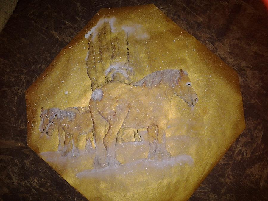 gilded Brabant Painting by Debbi Saccomanno Chan