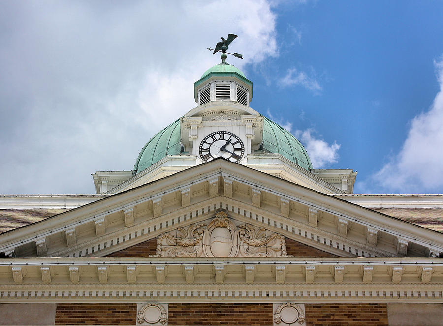 Giles County Photograph - Giles County Courthouse Details by Kristin Elmquist