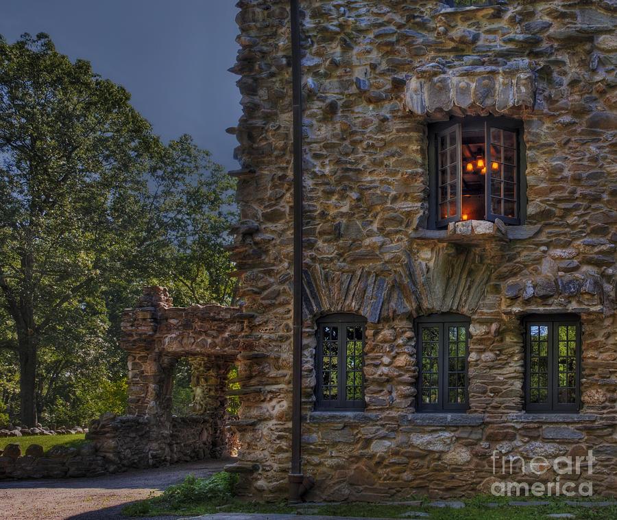 Gillete Castle Photograph - Gillette Castle Exterior Hdr by Susan Candelario