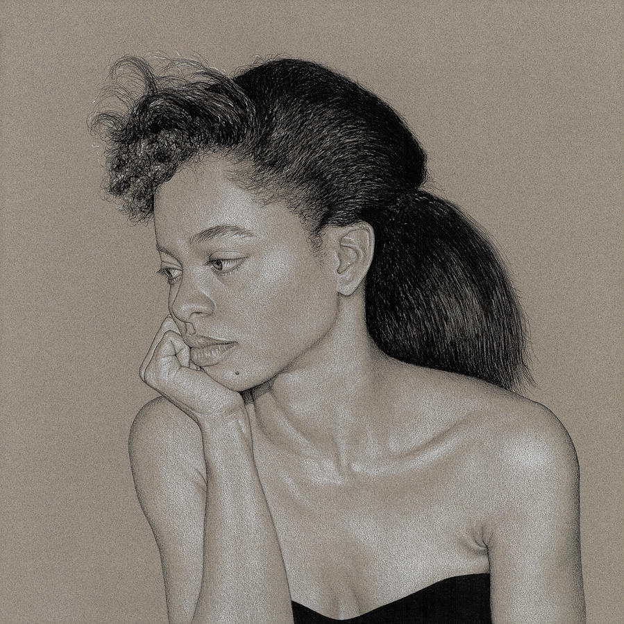 Charcoal Drawing - Gillian 1 by David Kleinsasser