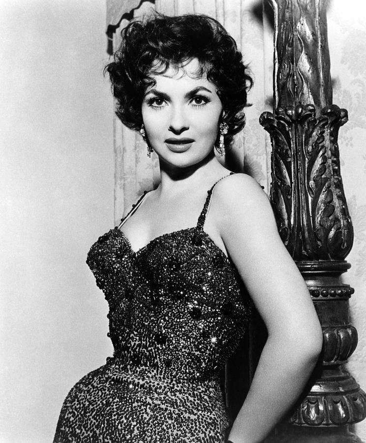 Chandelier Earrings Photograph - Gina Lollobrigida, Ca. 1956 by Everett