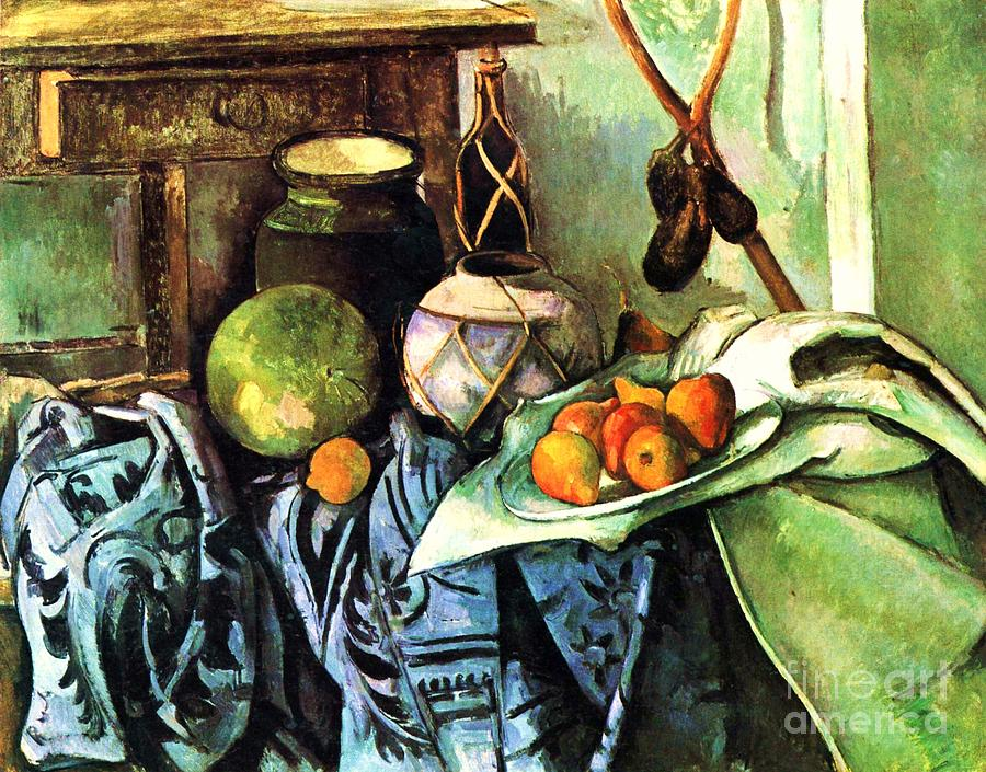 Pd Painting - Ginger Jar And Eggplants by Pg Reproductions