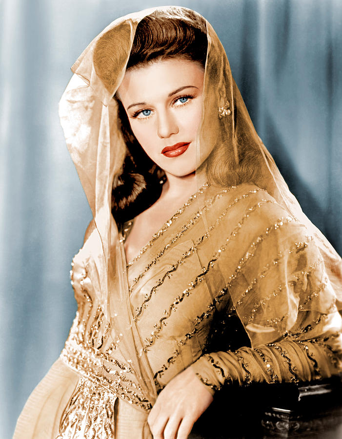 1940s Hairstyles Photograph - Ginger Rogers In Paramount Studio by Everett