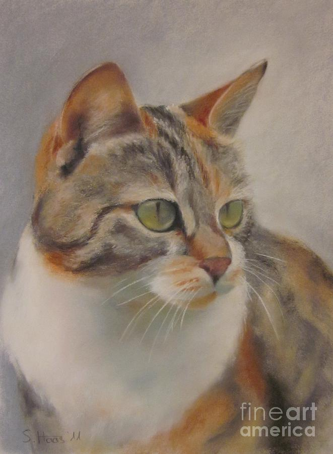 Cat Painting - Ginger by Sabina Haas