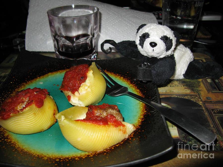 Baby Panda Photograph - Ginny Cant Wait To Taste Stuffed Shells by Ausra Huntington nee Paulauskaite
