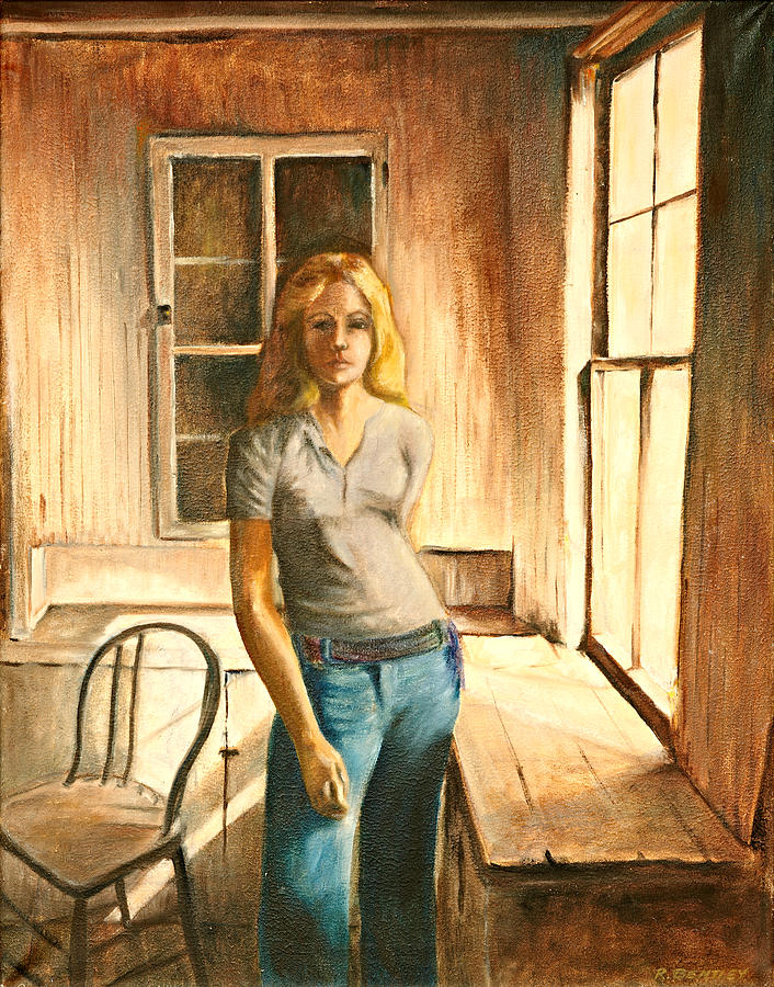 Girl Painting - Girl At The Window by Rita Bentley