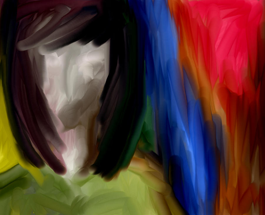 Abstract Art Painting Face