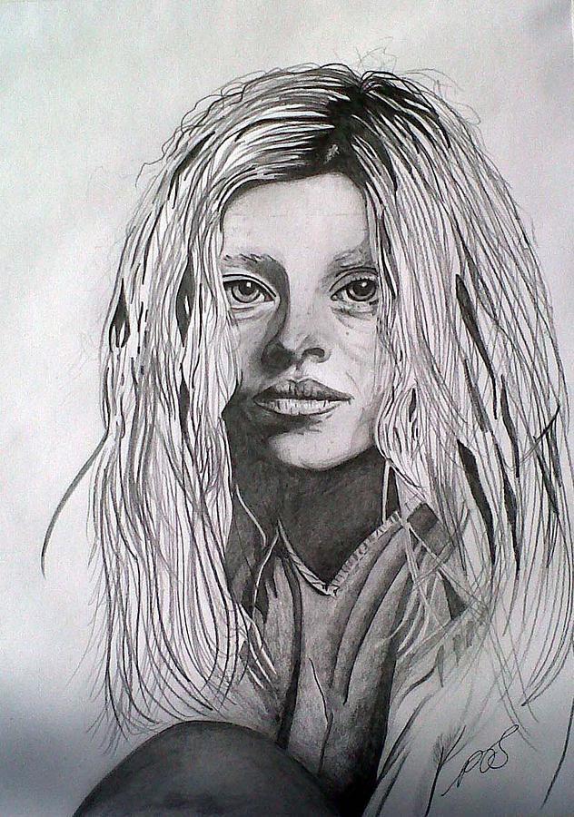 Girl Drawing - Girl I by Paula Steffensen