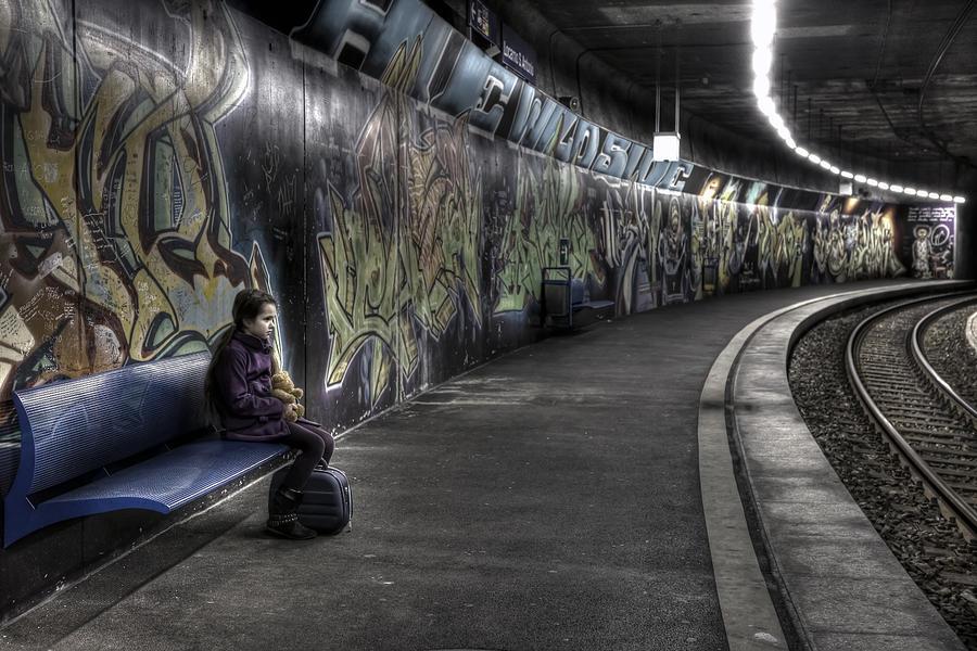 Girl Photograph - Girl In Station by Joana Kruse